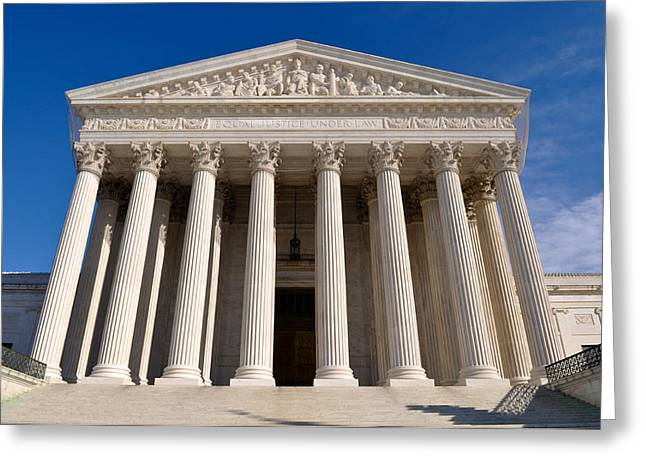 Supreme Court Of United States Of America Greeting Card by Brandon Bourdages