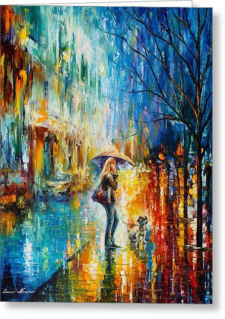 Surprise Greeting Cards - Suprised  Greeting Card by Leonid Afremov