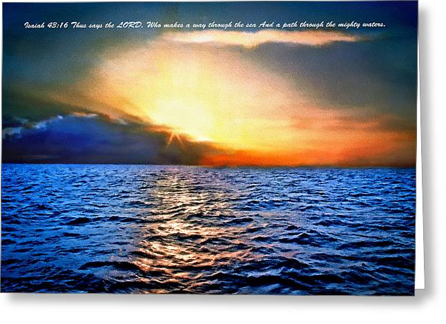 California Ocean Photography Paintings Greeting Cards - Big Sur - Pacific Sunset - Verse Greeting Card by  Bob and Nadine Johnston