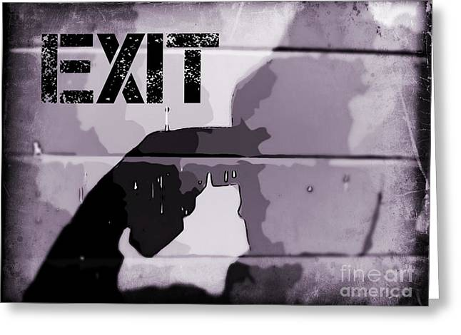 Grafitti Mixed Media Greeting Cards - Sure Signs of Depression Greeting Card by John Malone Halifax photographer