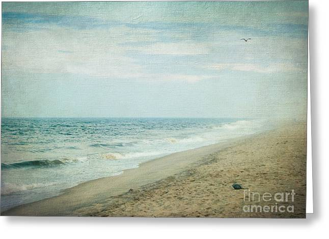 Surf Photos Art Greeting Cards - Surf and Sand Greeting Card by Colleen Kammerer