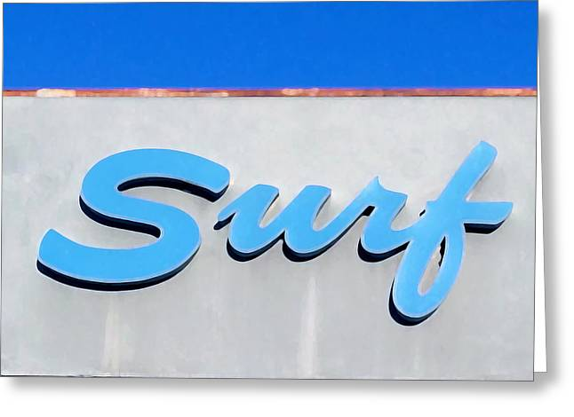 Surf Greeting Card by Art Block Collections