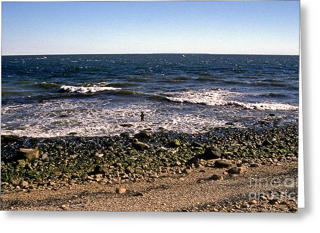 Surf Photos Art Greeting Cards - Surf At Montauk Greeting Card by Skip Willits