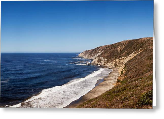 California Ocean Photography Greeting Cards - Surf At The Coast, Tomales Point, Point Greeting Card by Panoramic Images