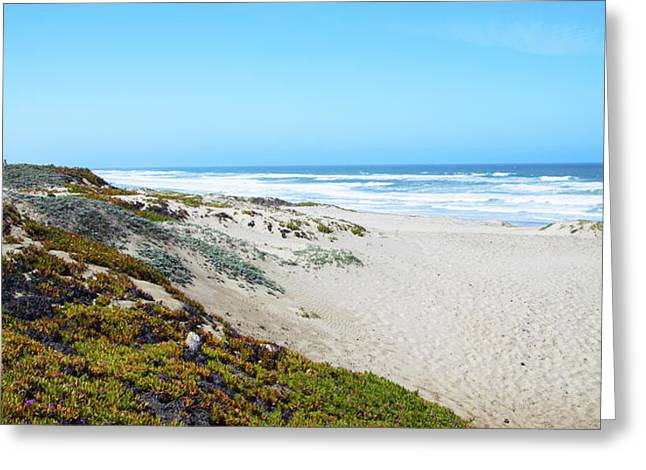 Beach Photos Digital Greeting Cards - Surf Beach Lompoc California 2 Greeting Card by Barbara Snyder