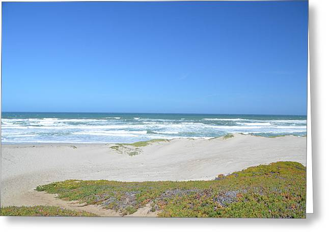 Beach Photos Digital Greeting Cards - Surf Beach Lompoc California 3 Greeting Card by Barbara Snyder