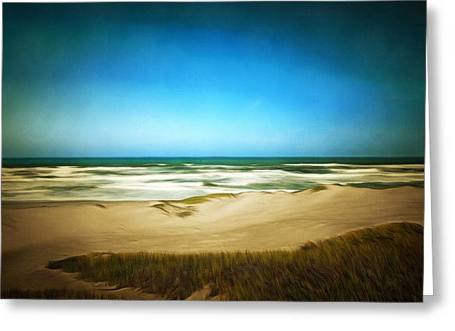 California Ocean Photography Paintings Greeting Cards - Surf Beach Lompoc California Digital Greeting Card by Barbara Snyder