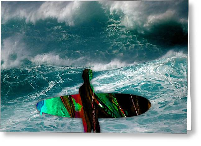 Surfing Greeting Cards - Surf Board Greeting Card by Marvin Blaine