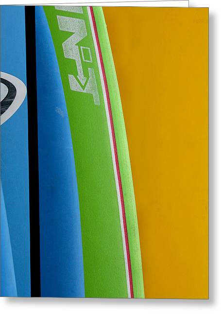 Surf Boards Greeting Card by Art Block Collections
