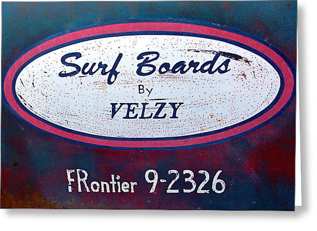 Beach Cruiser Greeting Cards - Surf Boards By VELZY Greeting Card by Ron Regalado