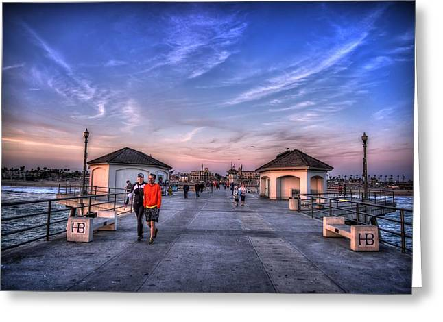 City Pier Greeting Cards - Surf City Pier Greeting Card by Spencer McDonald