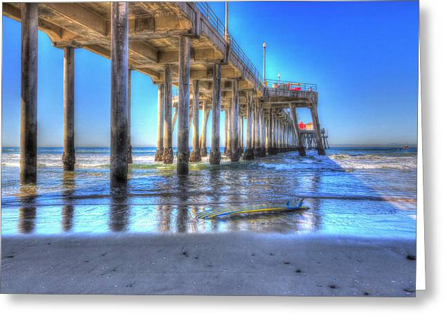 Surfing Art Greeting Cards - Surf City USA Greeting Card by Heidi Smith
