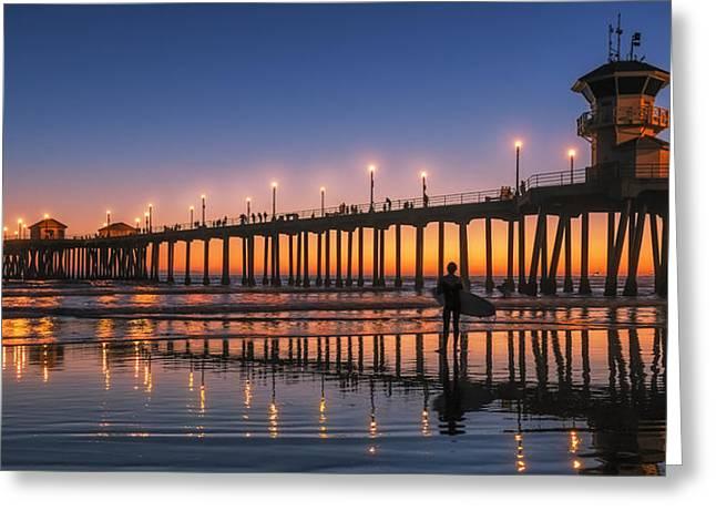 Surf City Usa Greeting Card by Hawaii  Fine Art Photography