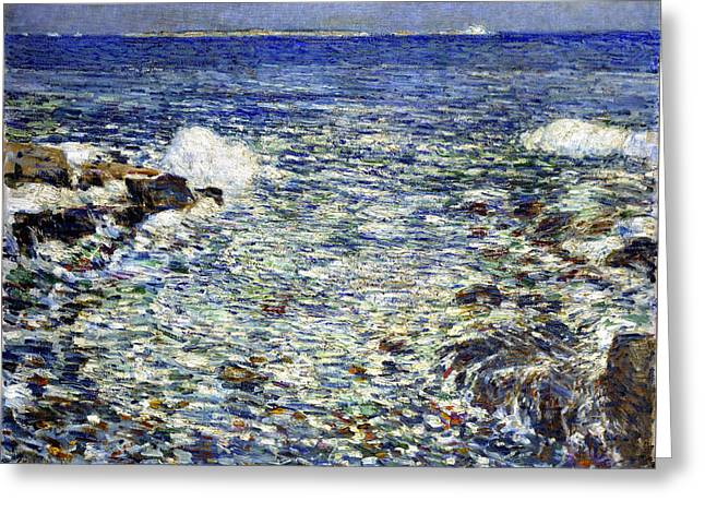 Frederick Digital Greeting Cards - Surf Greeting Card by Frederick Childe Hassam