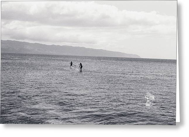 Surfing And Dolphins Greeting Cards - Surf in Hawaii 2008 Greeting Card by Yohei Koinuma