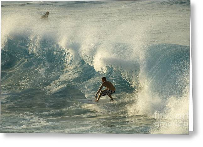Surfing Photos Greeting Cards - Surf Is Up Maui Greeting Card by Bob Christopher