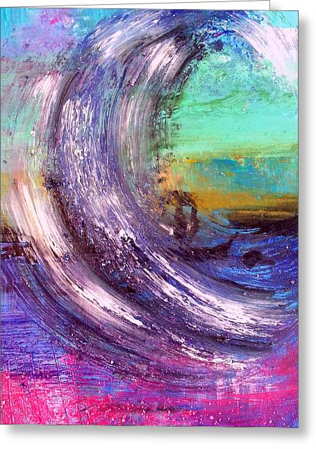 Abstract Seascape Pastels Greeting Cards - Surf Is Up Greeting Card by Nikki Dalton