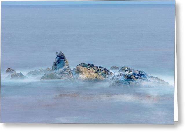 Surf On Rocks Garrapata State Park, Big Greeting Card by Tom Norring