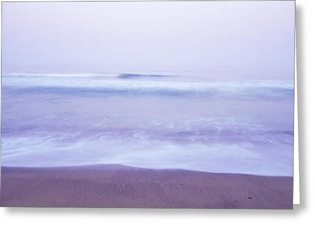 California Ocean Photography Greeting Cards - Surf On The Beach At Dawn, Point Arena Greeting Card by Panoramic Images