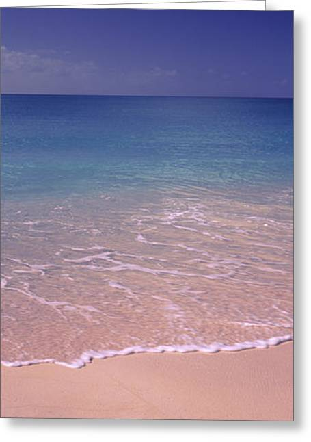 Horizon Over Water Greeting Cards - Surf On The Beach, Bahamas Greeting Card by Panoramic Images
