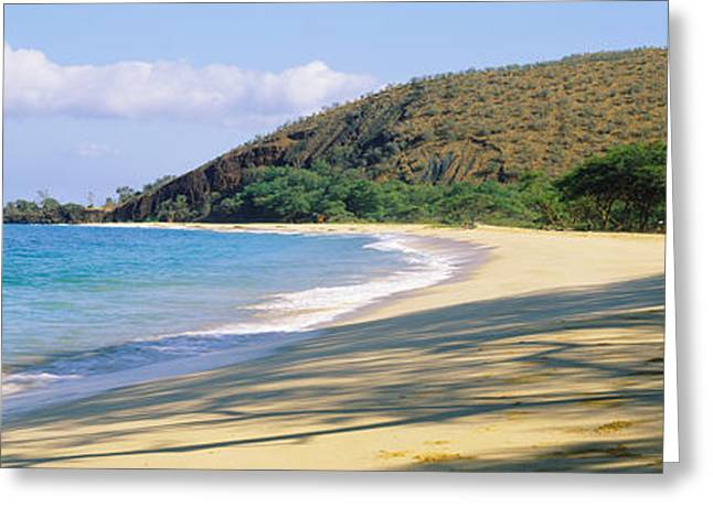Beach Photography Greeting Cards - Surf On The Beach, Big Beach, Makena Greeting Card by Panoramic Images