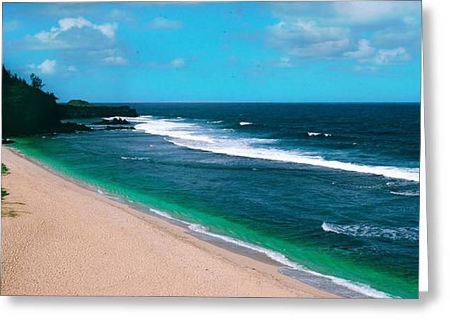 Mauritius Greeting Cards - Surf On The Beach, Gris Gris Beach Greeting Card by Panoramic Images