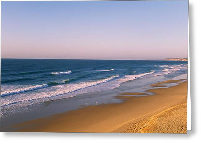 Algarve Greeting Cards - Surf On The Beach, Lagos, Algarve Greeting Card by Panoramic Images