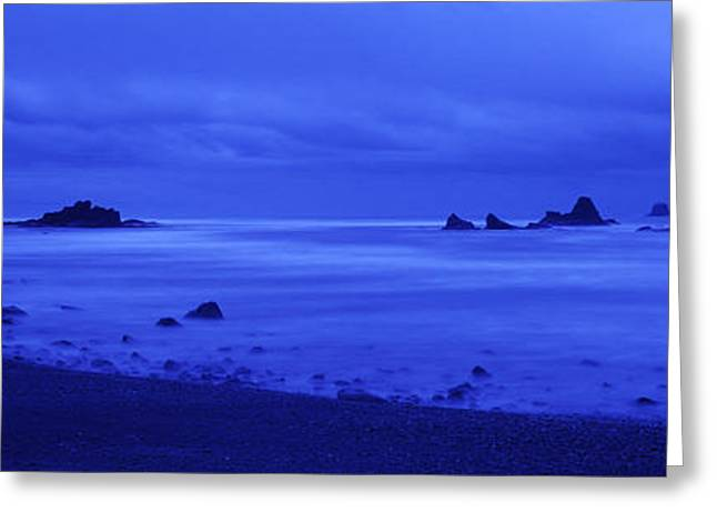 Beach Photography Greeting Cards - Surf On The Beach, Ruby Beach, Olympic Greeting Card by Panoramic Images