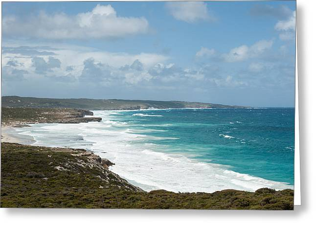 Kangaroo Island Greeting Cards - Surf On The Beach, Southern Ocean Greeting Card by Panoramic Images