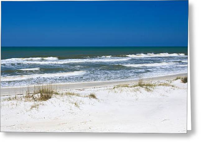 St Joseph Peninsula State Park Greeting Cards - Surf On The Beach, St. Joseph Peninsula Greeting Card by Panoramic Images