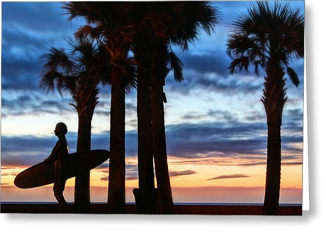 Florida Panhandle Greeting Cards - Surf Pensacola Beach Greeting Card by JC Findley