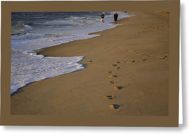 Para Surfing Greeting Cards - Surf Sand and Footprints Greeting Card by Debra Bowers
