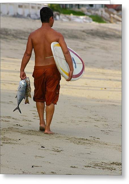 Surfing Photos Greeting Cards - Surf Sea and Sayulita Greeting Card by Frankie Wilson