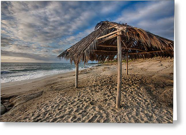 Shack Greeting Cards - Surf Shack Greeting Card by Peter Tellone