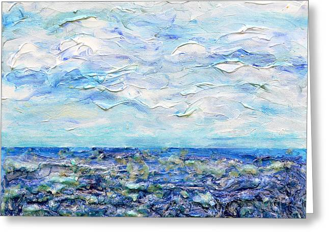 3d. Reliefs Greeting Cards - Surf Study Greeting Card by Regina Valluzzi