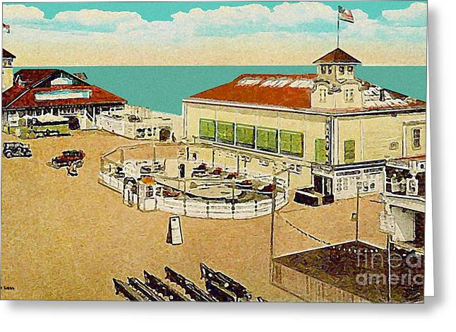 Recently Sold -  - Theater Greeting Cards - Surf Theatre And Seaview Pavilion At Salisbury Beach Ma 1937 Greeting Card by Dwight Goss