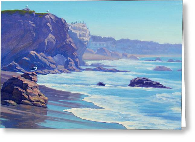 Surf Watchers Greeting Card by Elena Roche