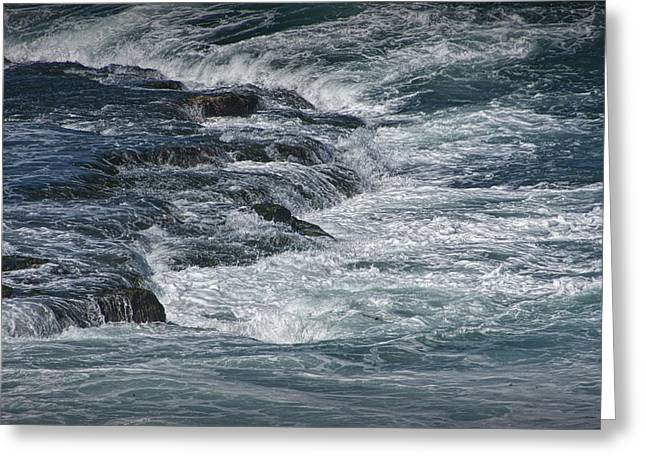 Pacific Ocean Prints Greeting Cards - Surf Waves at La Jolla California No. 1139 Greeting Card by Randall Nyhof
