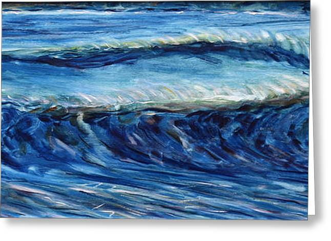 Croyde Greeting Cards - Surf Waves Croyde Greeting Card by Pete Caswell