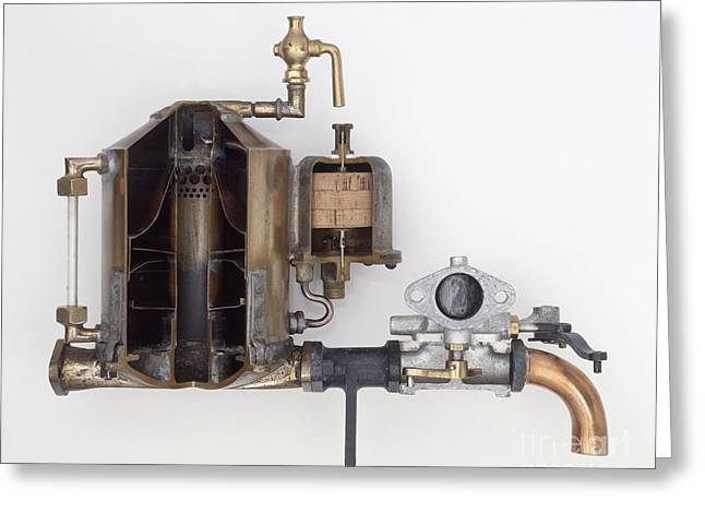 1901 Greeting Cards - Surface Carburettor, 1901 Greeting Card by Dave Rudkin / Dorling Kindersley