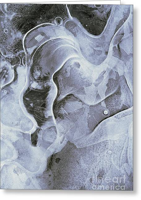 Vesicles Greeting Cards - Surface Of The Ice Greeting Card by Michal Boubin