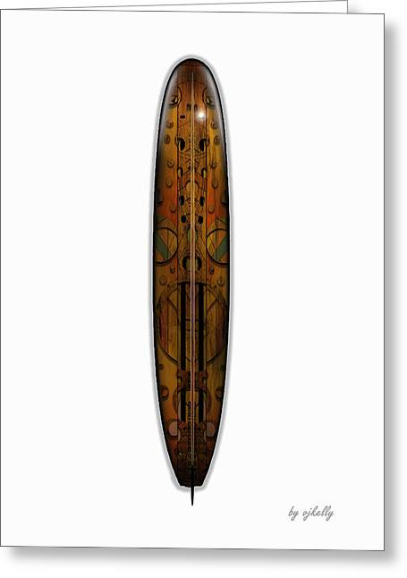 Kelly Mixed Media Greeting Cards - Surfboards 101 Greeting Card by Vjkelly Artwork