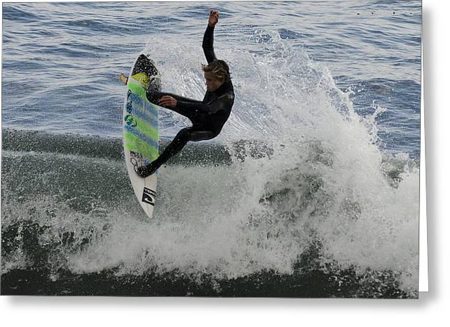 Steamer Lane Greeting Cards - Surfer 1 Greeting Card by Paul Balbas