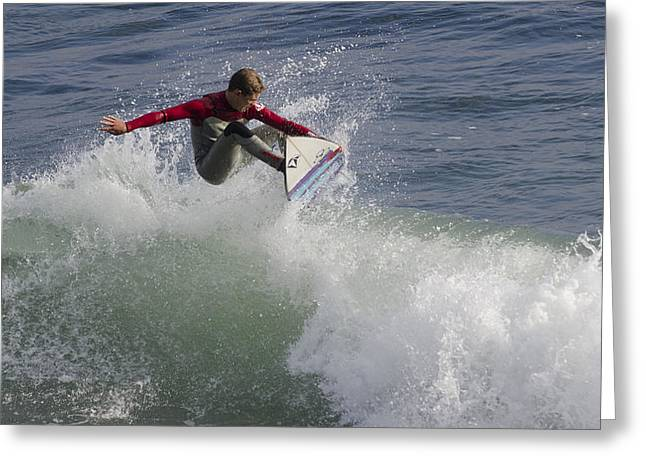 Steamer Lane Greeting Cards - Surfer 2 Greeting Card by Paul Balbas