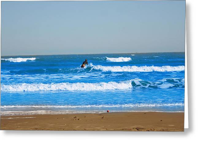 Aaron Balderas Greeting Cards - Surfer Greeting Card by Aaron Balderas
