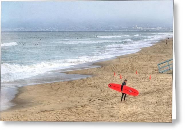 Surfer Boy Greeting Card by Juli Scalzi