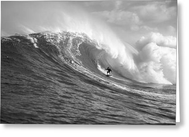 Sea And Sky Greeting Cards - Surfer In The Sea, Maui, Hawaii, Usa Greeting Card by Panoramic Images