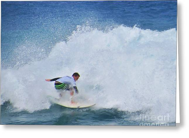 Surfing Photos Greeting Cards - Surfer Jay Thompson Greeting Card by Scott Cameron