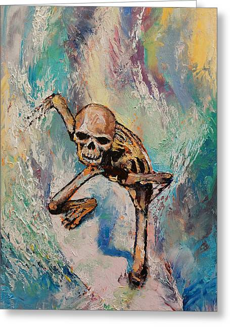 Hang Greeting Cards - Surfer Greeting Card by Michael Creese