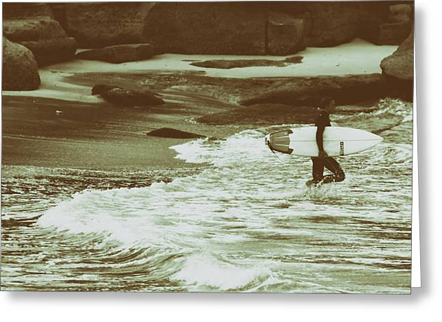 Surfing Photos Greeting Cards - Surfer Greeting Card by Mountain Dreams